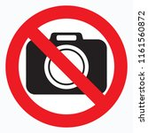 no cameras allowed sign. red... | Shutterstock .eps vector #1161560872