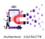 social media ultra violet... | Shutterstock .eps vector #1161561778