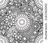 hand drawn seamless pattern... | Shutterstock . vector #1161562042