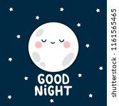 moon  stars with good night... | Shutterstock .eps vector #1161565465