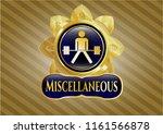 golden emblem with sumo... | Shutterstock .eps vector #1161566878
