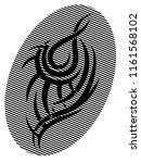 black tribal tattoo pattern on...   Shutterstock .eps vector #1161568102