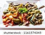 antipasti appetizer sweet... | Shutterstock . vector #1161574345