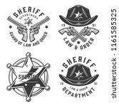 monochrome vintage sheriff... | Shutterstock .eps vector #1161585325