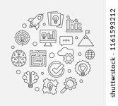 brainstorm round thin line... | Shutterstock .eps vector #1161593212