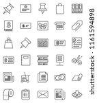 thin line vector icon set  ... | Shutterstock .eps vector #1161594898