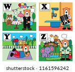 animal alphabet set  bear... | Shutterstock .eps vector #1161596242