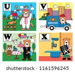 animal alphabet  bear career... | Shutterstock .eps vector #1161596245