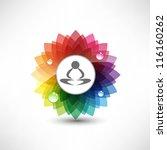 yoga. illustration meditation | Shutterstock .eps vector #116160262