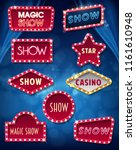 sign neon show | Shutterstock .eps vector #1161610948