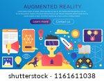 vector trendy flat gradient... | Shutterstock .eps vector #1161611038