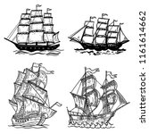 set of sea ship illustrations... | Shutterstock .eps vector #1161614662