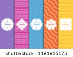 set of bright striped seamless...   Shutterstock .eps vector #1161615175