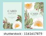 wedding invitation  floral... | Shutterstock .eps vector #1161617875