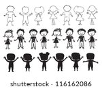 silhouettes of children over... | Shutterstock .eps vector #116162086