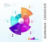 business infographic design...   Shutterstock .eps vector #1161621115