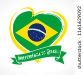 love brazil flag emblem with... | Shutterstock .eps vector #1161629092
