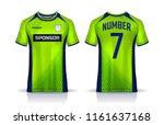 t shirt sport design template ... | Shutterstock .eps vector #1161637168