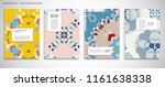 set of a4 cover  abstract...   Shutterstock .eps vector #1161638338