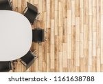 top view of empty conference... | Shutterstock . vector #1161638788