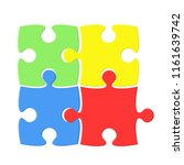 colorful puzzle illustration on ... | Shutterstock . vector #1161639742