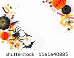 halloween holiday frame with... | Shutterstock . vector #1161640885