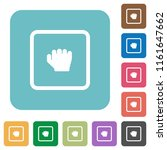 grab object white flat icons on ... | Shutterstock .eps vector #1161647662