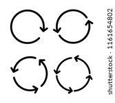circular arrows sign icon set... | Shutterstock .eps vector #1161654802