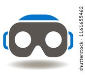 virtual reality headset icon... | Shutterstock .eps vector #1161655462