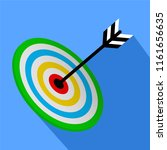 3d target   bullseye with arrow ... | Shutterstock . vector #1161656635