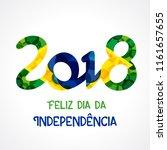 feliz dia da independencia do... | Shutterstock .eps vector #1161657655