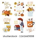 set of autumn vector... | Shutterstock .eps vector #1161665008