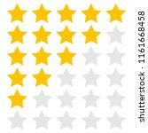 stars set for ratings. customer ... | Shutterstock .eps vector #1161668458
