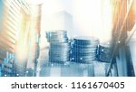 double exposure of graph and...   Shutterstock . vector #1161670405