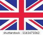 british flag as background.... | Shutterstock . vector #1161671062