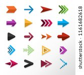 arrow flat design | Shutterstock .eps vector #1161682618