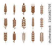 set of simple and stylish wheat ... | Shutterstock .eps vector #1161682705