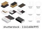 rigid magnet box template 3d... | Shutterstock .eps vector #1161686995