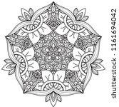 black and white mandala vector... | Shutterstock .eps vector #1161694042