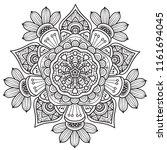 black and white mandala vector... | Shutterstock .eps vector #1161694045