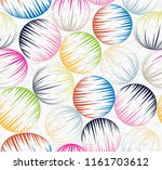 colorful circle pattern | Shutterstock .eps vector #1161703612