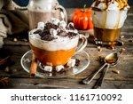 autumn winter warm drinks  hot... | Shutterstock . vector #1161710092
