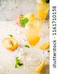 summer cold alcohol beverage ... | Shutterstock . vector #1161710158
