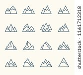 mountains line icons | Shutterstock .eps vector #1161712318