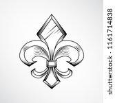heraldic lily label | Shutterstock .eps vector #1161714838