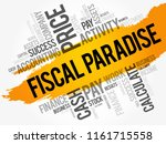 fiscal paradise word cloud... | Shutterstock .eps vector #1161715558