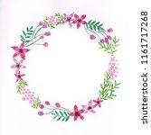 cute  little handmade pink... | Shutterstock . vector #1161717268
