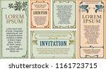 template flyer  invitation or...   Shutterstock .eps vector #1161723715