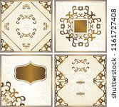 set of cards with floral... | Shutterstock . vector #1161727408