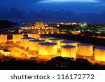 oil tanks at night | Shutterstock . vector #116172772